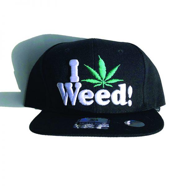 Black Hat - I heart Weed Leaf