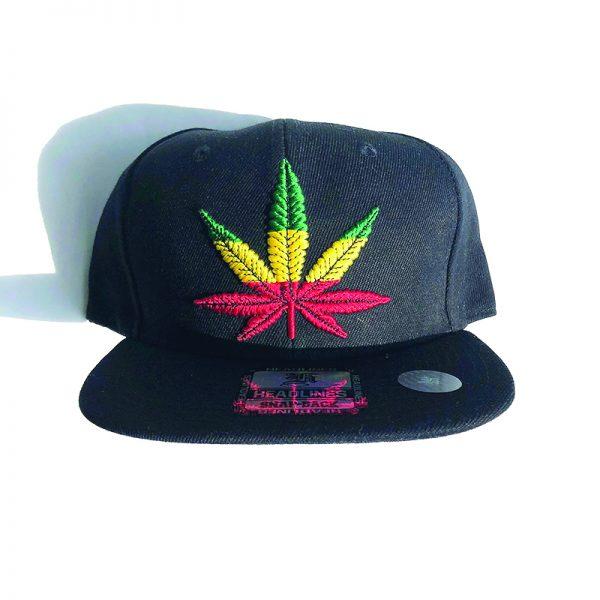 Black Hat - Multi Color Weed Leaf