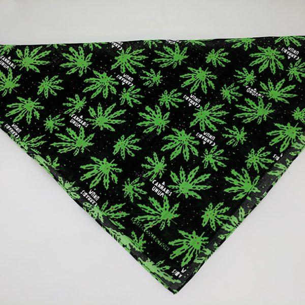 Cannabis Marijuana Pot Leaf Dog Bandana