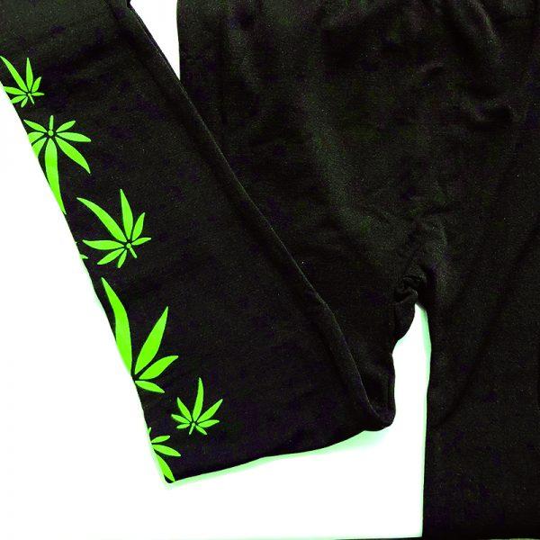 Weed Leaf Leggings Folded